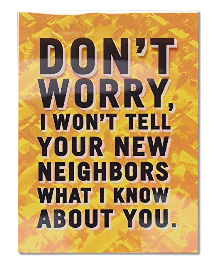 Amazon american greetings funny neighbors new home american greetings funny neighbors new home congratulations card 5856753 m4hsunfo