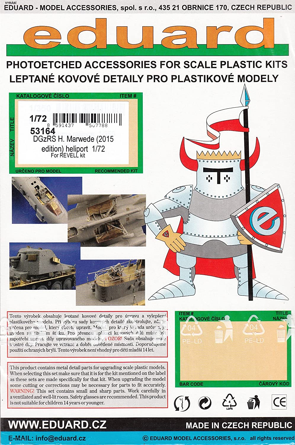 heliport f.R in 1:72 2015edition Eduard Accessories 53164 DGzRS H.Marwede