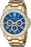 Vince Camuto Women's VC/5158BLGB Swarovski Crystal Accented Multi-Function Gold-Tone Bracelet Watch