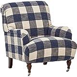 "Stone & Beam Cameron Classic Oversized Chair, 32"" W, Indigo"