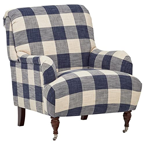 Stone Beam Cameron Classic Oversized Arm Chair, 32 W, Indigo