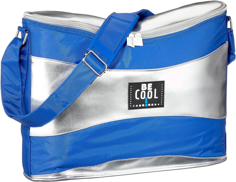 Be Cool Kühltasche Wave, silber/blau 13 l