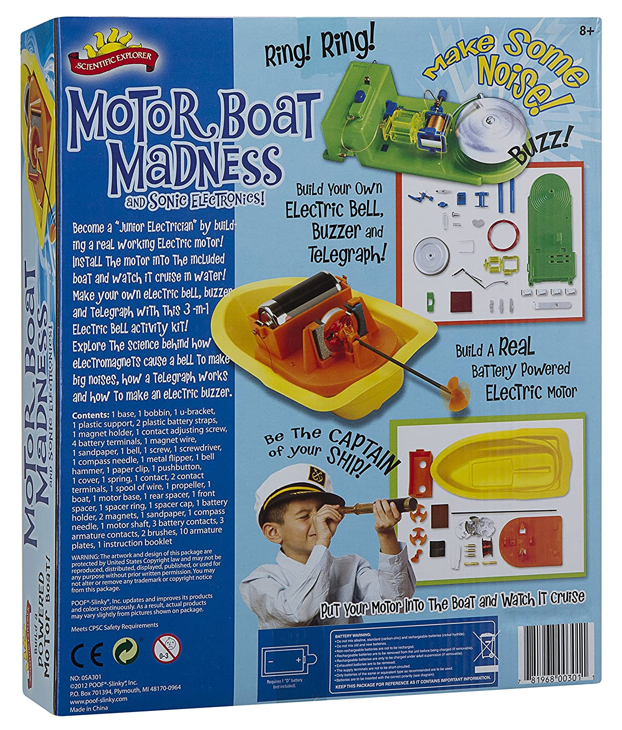 Amazon.com: Scientific Explorer Motor Boat Madness and Sonic ...