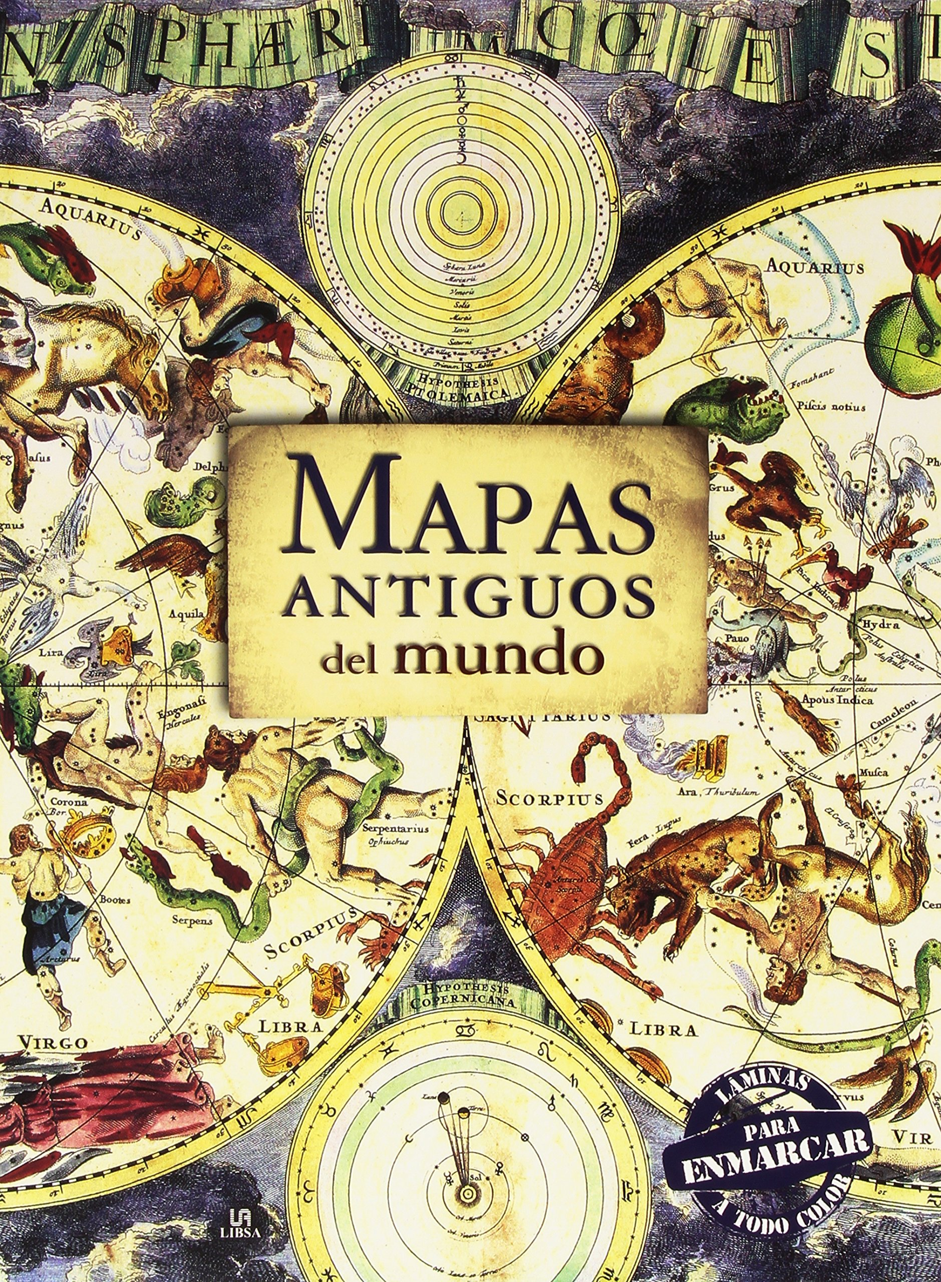 Mapas Antiguos Del Mundo Láminas Para Enmarcar Posters Art: Amazon.es: Aa.Vv: Libros