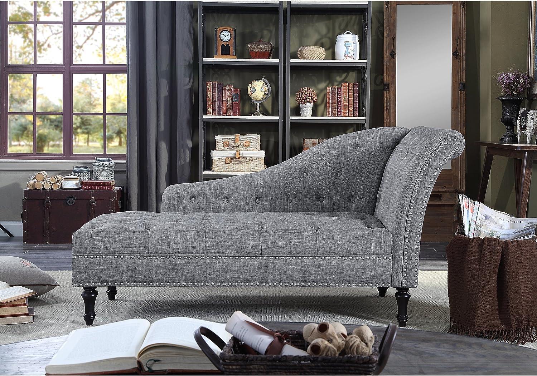 - Amazon.com: Rosevera Deedee Chaise Lounge, Grey: Kitchen & Dining