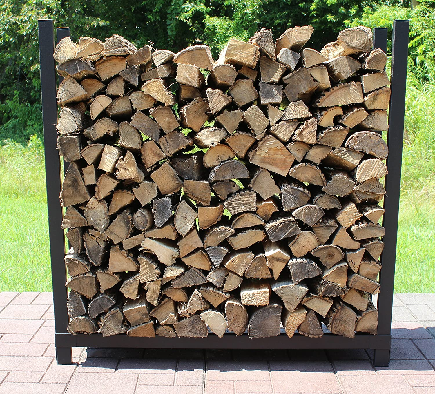 Woodhaven 4' EZ SLIDE FIREWOOD RACK WITH FULL COVER ALEXANDER MFG. CO. INC.