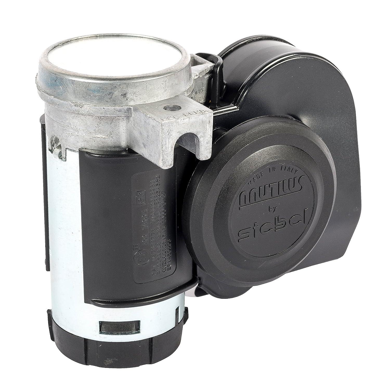Stebel Nautilus - Bocina de Aire compacta con Doble Tono (12 V), Color Negro: Amazon.es: Coche y moto