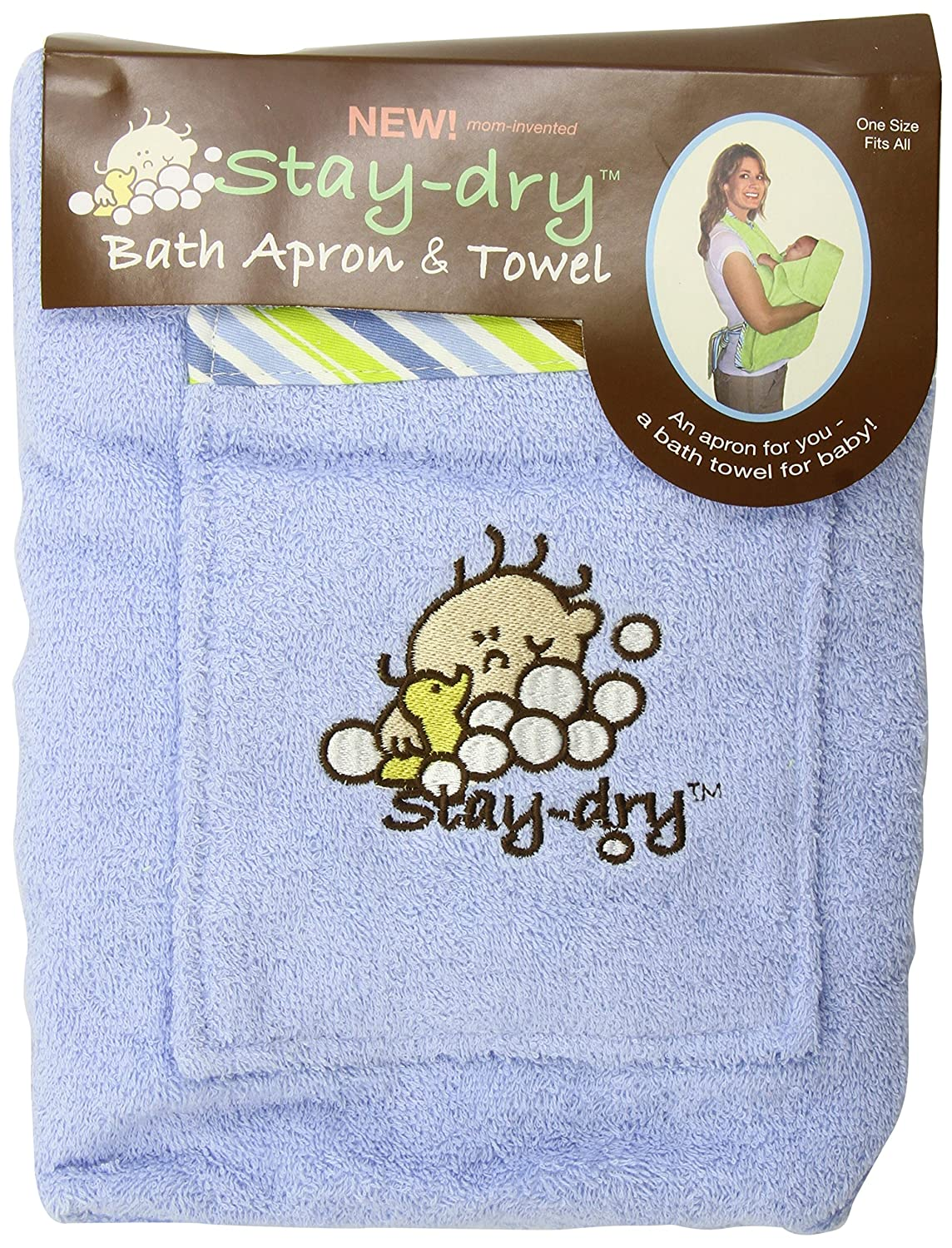 Amazon.com: Stay-Dry Bath Apron and Towel, Blue: Baby