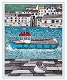 Polperro Seagull - Cornwall - Polperro Cross Stitch Kit by Emma Louise Art Stitch