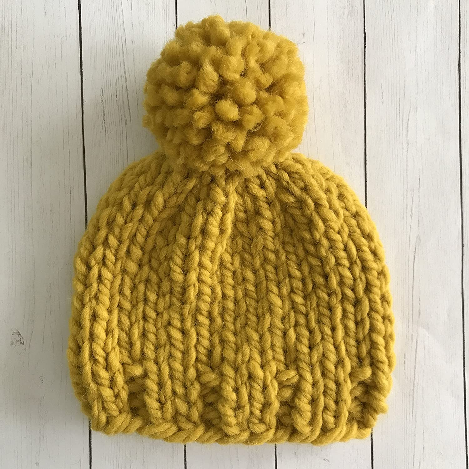 Amazon.com  Mustard Yellow Baby Beanie - 3-6 Months  Handmade 6a48cbdd4cd