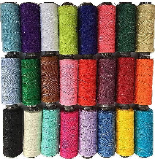 GCS 25 - Hilo de Coser 100% algodón Puro para máquinas de Coser y ...
