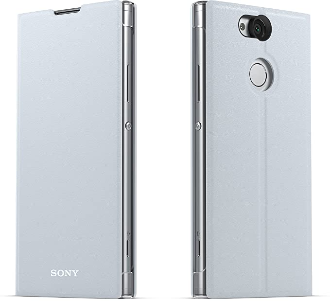 buy online ed2cb bb639 Sony Genuine Official Xperia XA2 Style Cover Stand SCSH10 Case - Silver