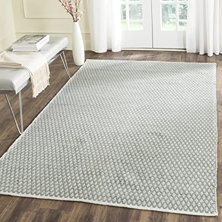 Safavieh Boston Collection Bos685 E Handmade Grey Cotton Area Rug (4' X 6') by Safavieh