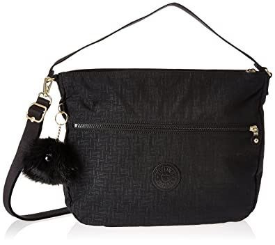 baa44747d Kipling Fenna, Women's Shoulder Bag, Black (Black Pylon Emb), 9.5x37x31