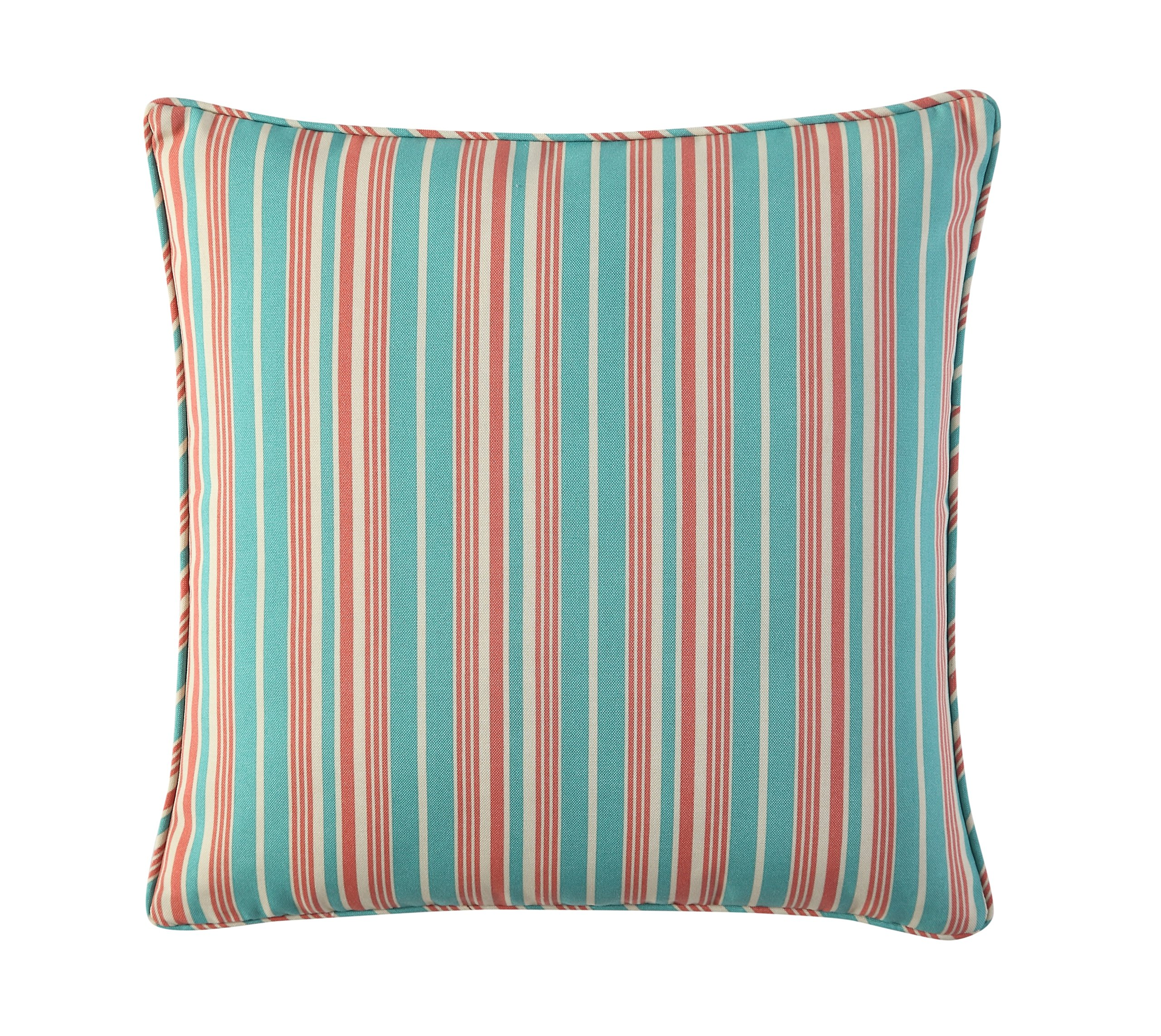 WAVERLY Indoor/Outdoor Decorative Throw Cushion – 17 x 17 Inches, FILLING INCLUDED, Available in Many Designs, Comfortable and Durable (Aran Capri)
