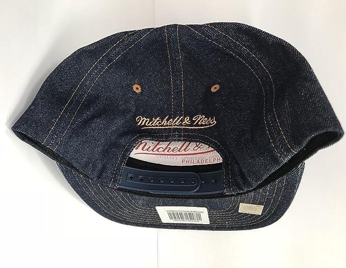 903aab68371 Mitchell   Ness San Antonio Spurs Dark Denim EU786 Snapback Cap Kappe  Basecap  Amazon.co.uk  Clothing