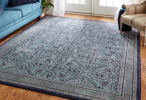 Mohawk Home Cascade Heights Barrow Blue Rug, 8 x 10