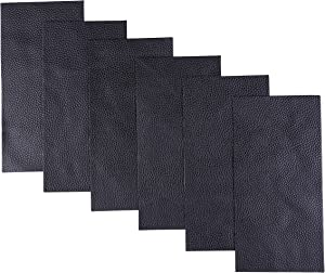 I-MART Leather Repair Patch, Pleather Patch, Faux Leather Repair Kit for Couch Furniture Sofa Jackets Handbags (Pack of 6 - Black)
