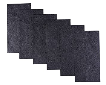 Enjoyable I Mart Leather Repair Patch Pleather Patch Faux Leather Repair Kit For Couch Furniture Sofa Jackets Handbags Pack Of 6 Black Creativecarmelina Interior Chair Design Creativecarmelinacom