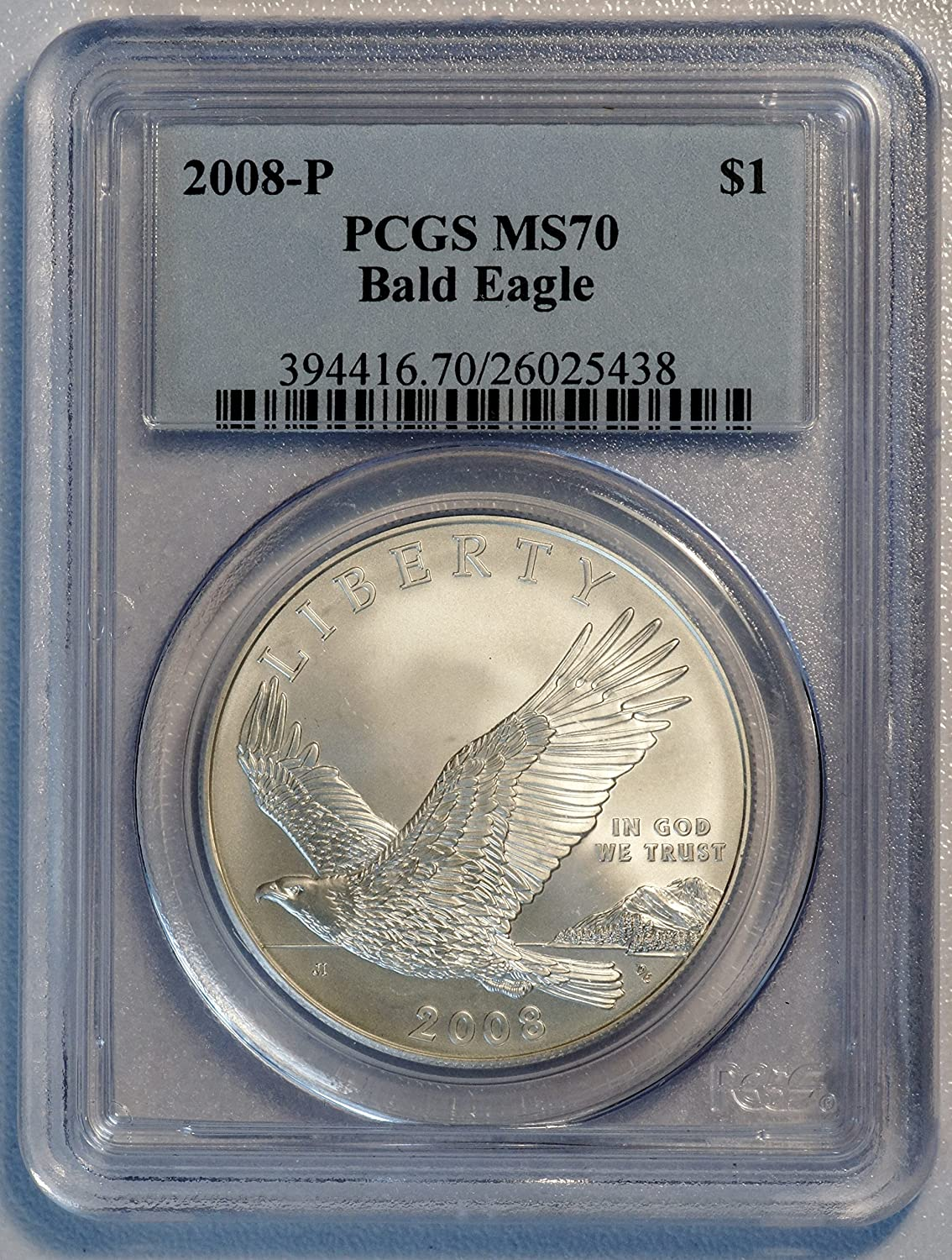 2008 P $1 Bald Eagle Recovery Commemorative Silver Dollar Coin Choice Proof
