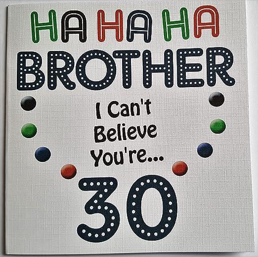 Ha Ha Ha feliz cumpleaños - hermano 30 cumpleaños - Tarjeta ...