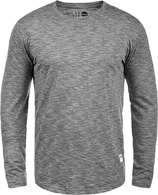 TALLA XXL. !Solid Ligos Camiseta Básica De Manga Larga Longsleeve para Hombre con Cuello Redondo De 100% Algodón
