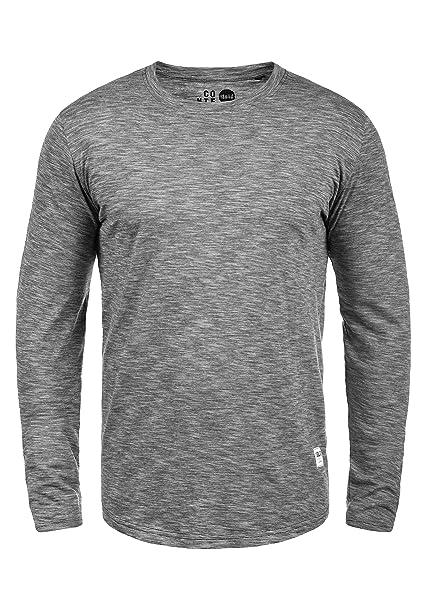!Solid Ligos Camiseta Básica De Manga Larga Longsleeve para Hombre con Cuello Redondo De 100% Algodón: Amazon.es: Ropa y accesorios