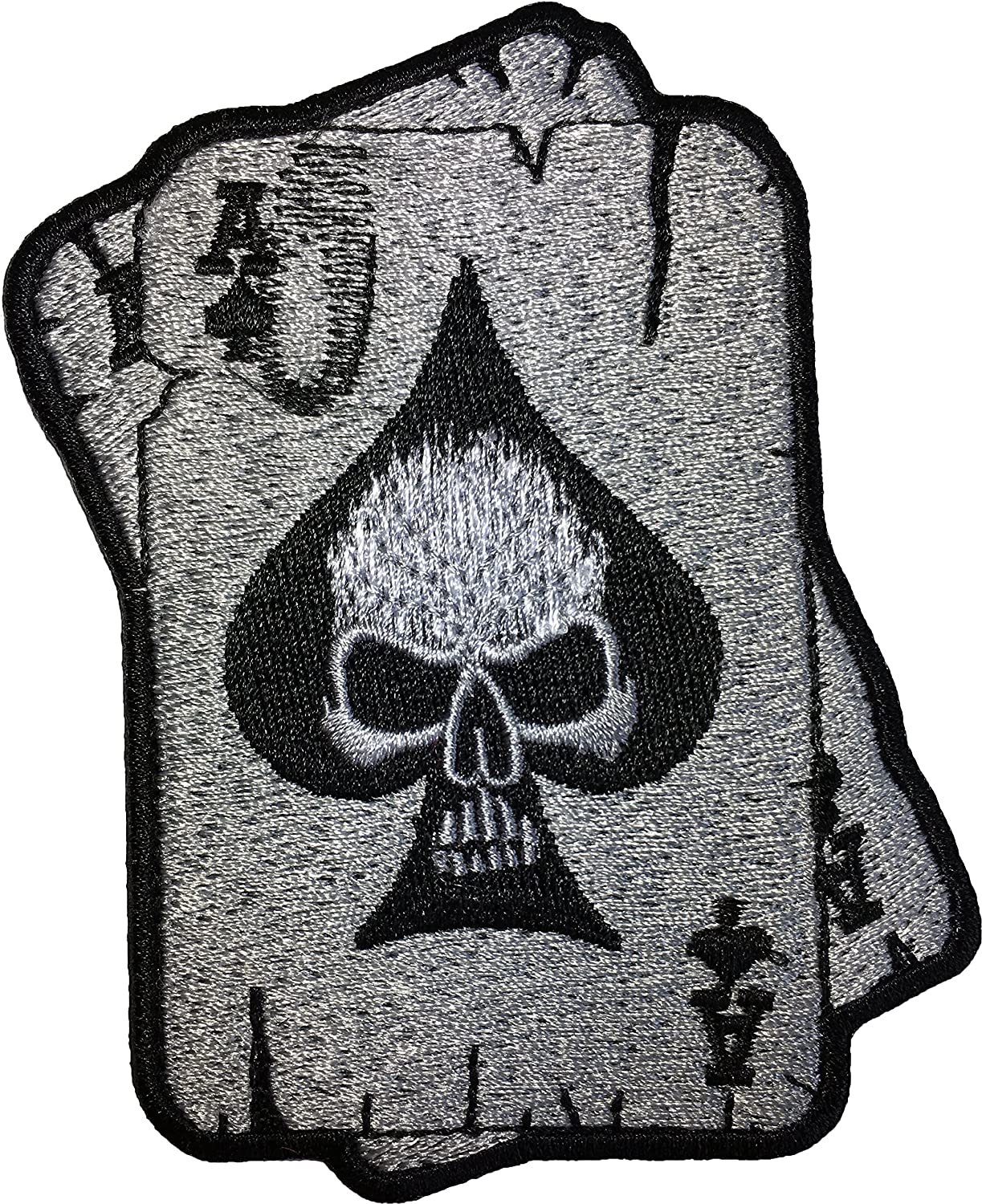 LEATHER day of the dead death skull patch  Motorcycle Biker Patch