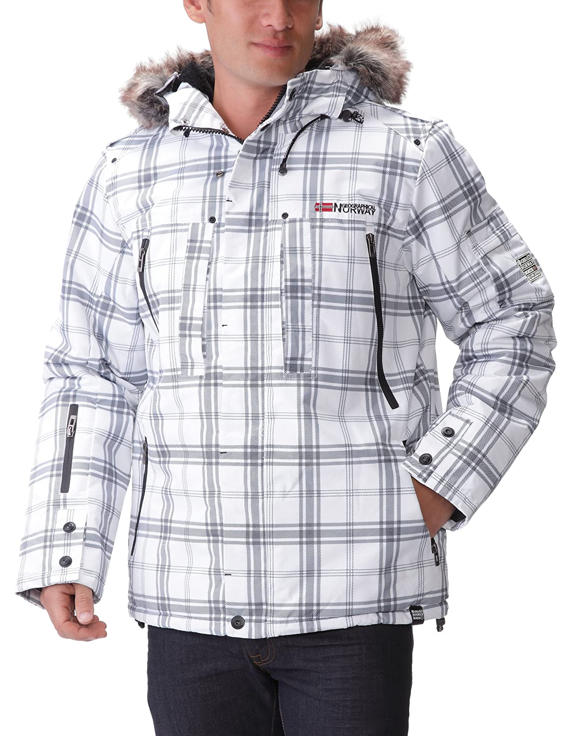 Geographical Norway Men's Cluses Check Assor a Long sleeve Jacket