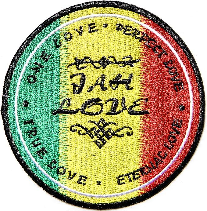 RASTA STAR OF DAVID PATCH Cloth Badge//Emblem Judah Biker Jacket Bag Jah Love