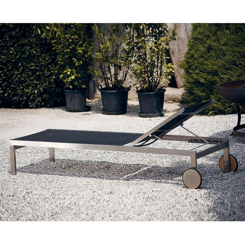 Luxury Liege schwarz 207 x 72,5 cm