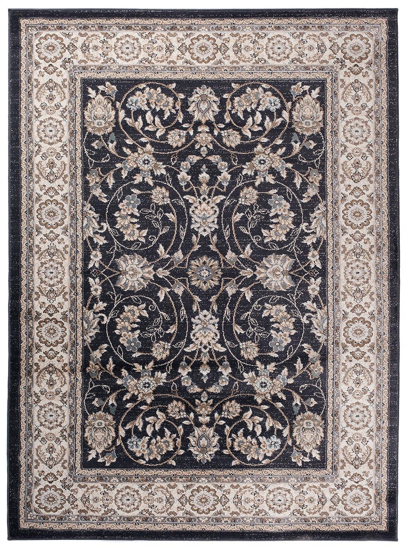 Carpeto Orientteppich Teppich Schwarz 120 x 170 cm Ornamente Muster Ayla Kollektion