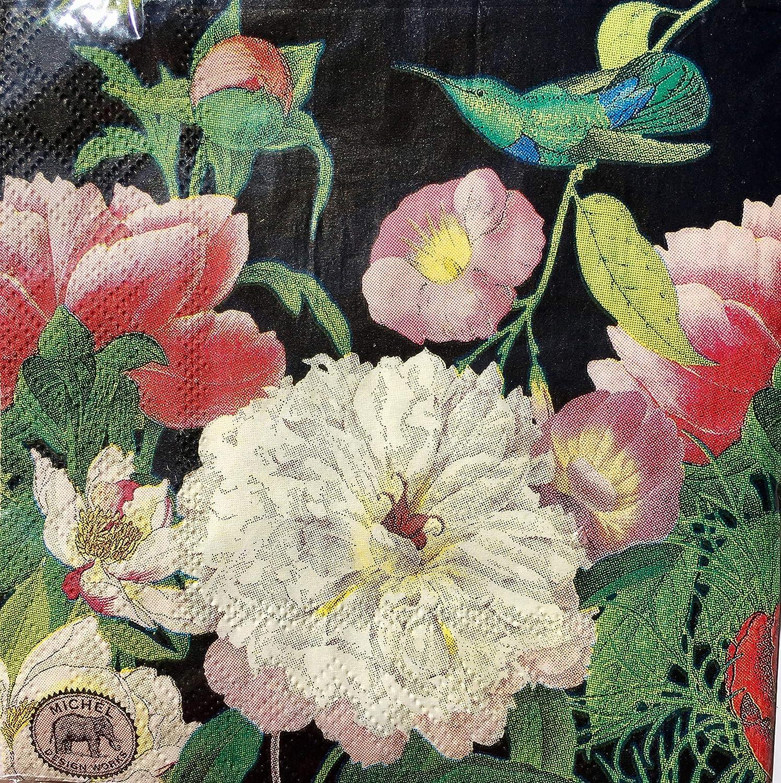 Michel Design Works Peony Blossom Paper Luncheon Napkins, 20 ct B07JMF6VTT