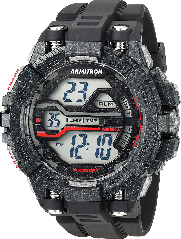 Armitron Sport Men s 40 8436BLK Digital Chronograph Black Resin Strap Watch