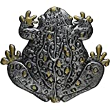 Oakland Living Frog Stepping Stone, Antique Pewter
