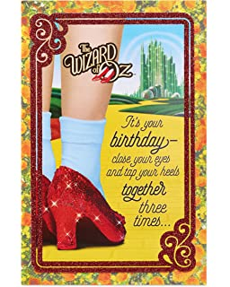 Amazon santoro interactive 3d swing greeting card oz office american greetings funny the wizard of oz birthday card with glitter m4hsunfo