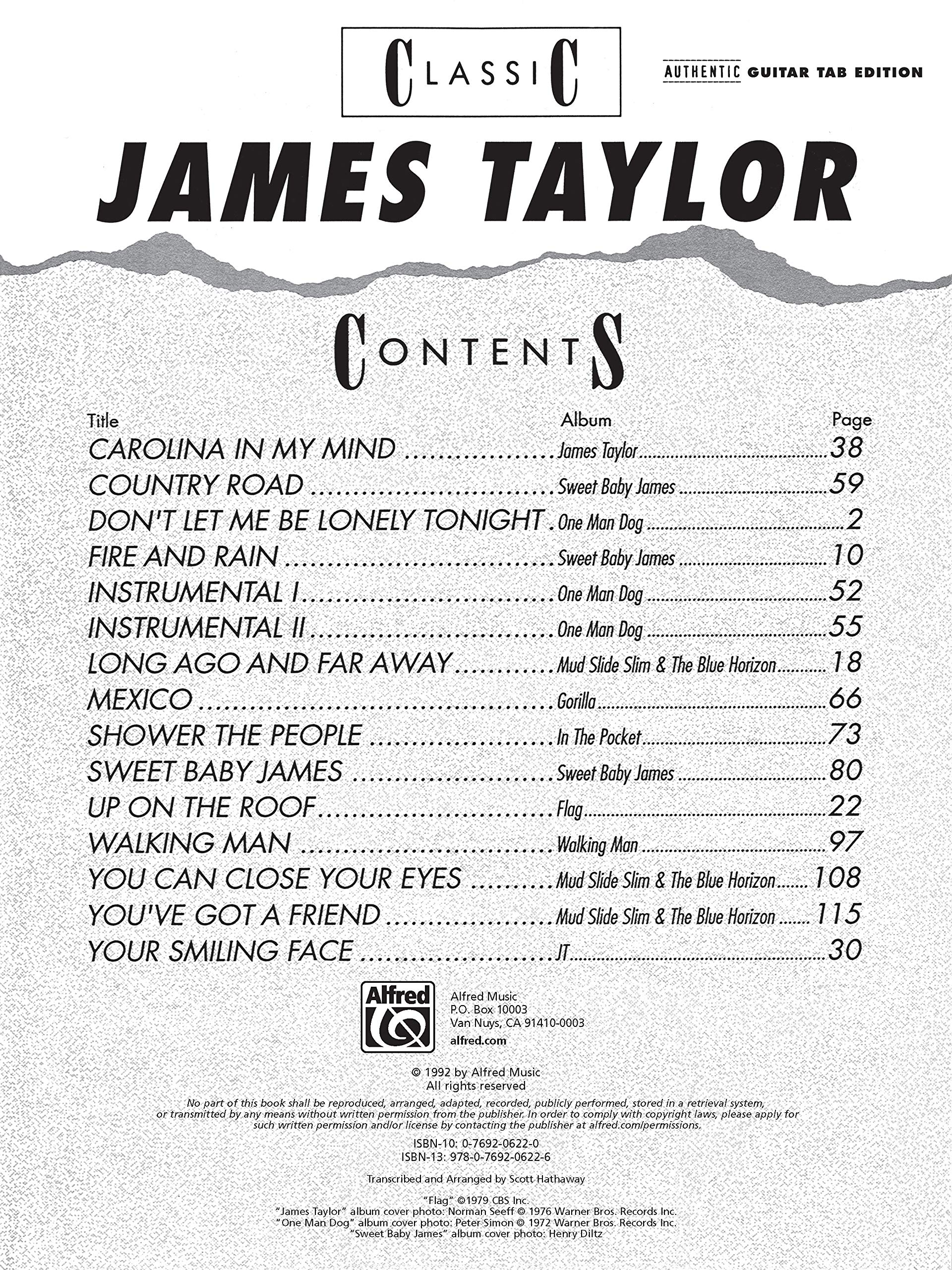 Classic James Taylor: Authentic Guitar Tab: Amazon.es: Taylor ...
