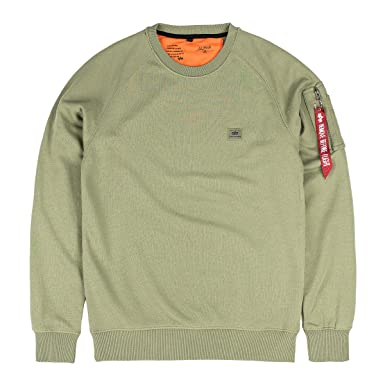 Alpha Industries Sweater X-Fit, Größe:3XL, Farbe:olive