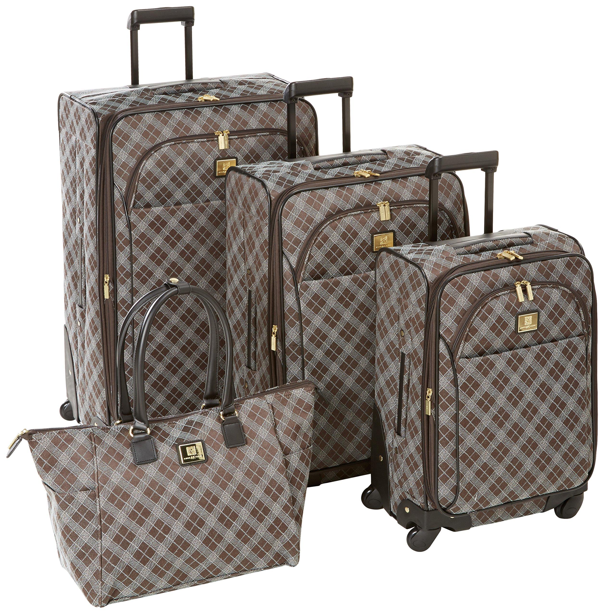 Anne Klein Madison 4 Piece Luggage Set, Black