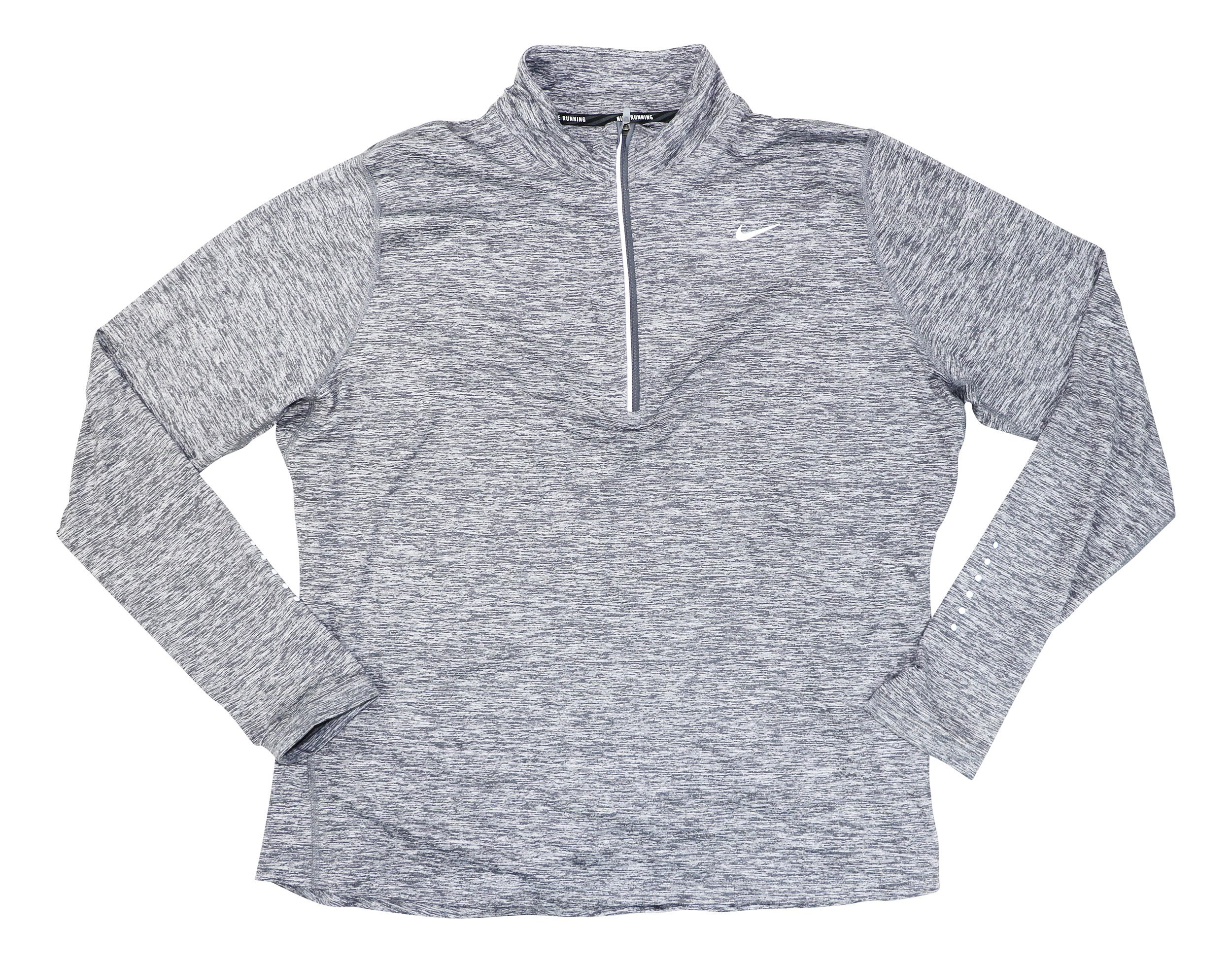 NIKE Womens Plus Dry Element Running Fitness Pullover Top Gray 1X