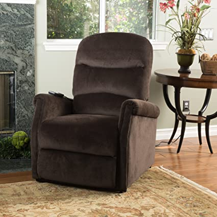 Attrayant Alan Chocolate Fabric Lift Up Recliner Chair