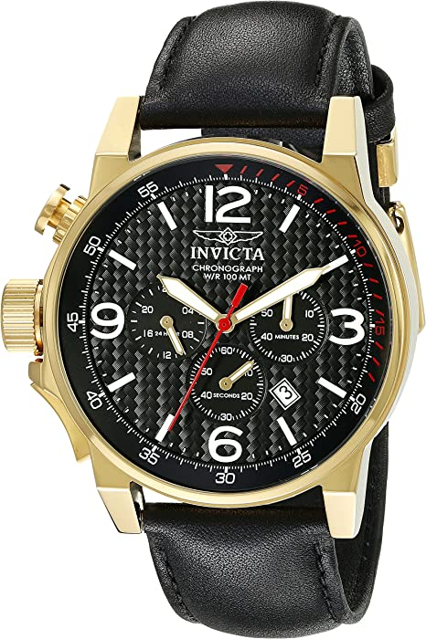 Invicta Mens 20135SYB I-Force Analog Display Quartz Black Watch