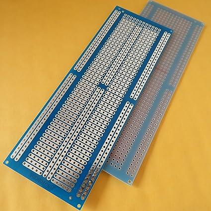 10stk pcb 4.5x7cm joint Löcher Streifenraster Lochraster Platine Leiterplatte