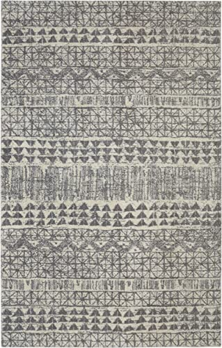 Mohawk Berkshire Billerica Geometric Woven Soft Shag Area Rug, 10 x14 , Grey
