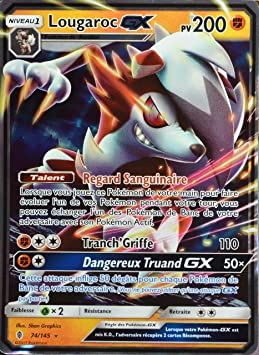 carte pokemon lougaroc gx Carte Pokemon LOUGAROC 138/145 GX Full Art Soleil et Lune 2 SL2 FR