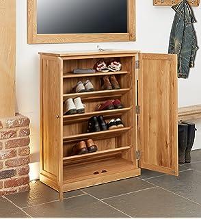 mobel solid oak narrow baumhaus mobel oak large shoe cupboard