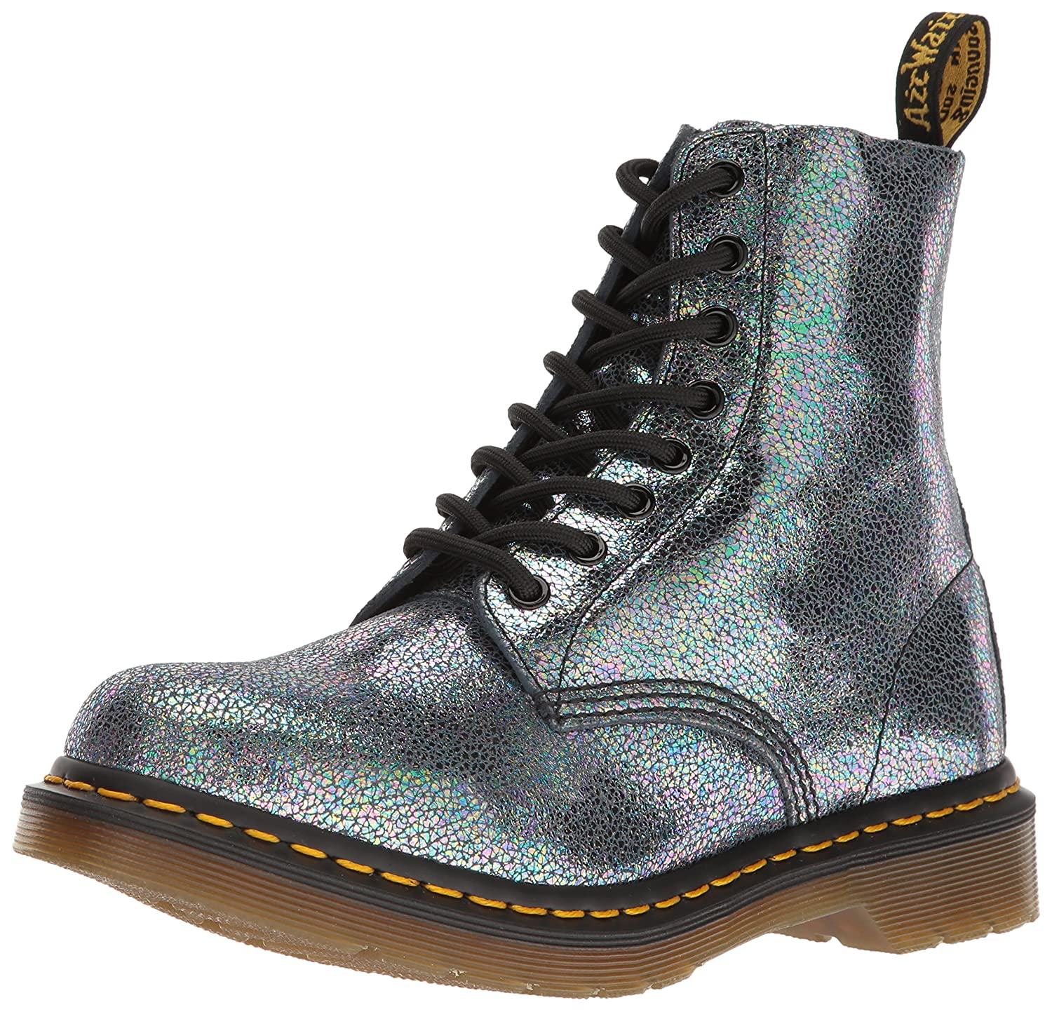Dr. Martens Men's Pascal Antique Temperley Combat Boot B01L19KY0Y 8 UK/10 M US|Grey