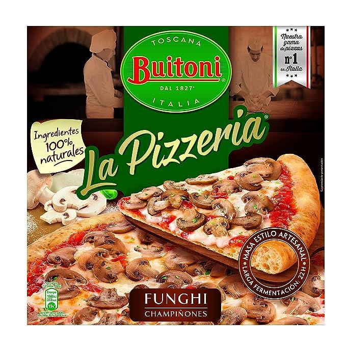 Buitoni Pizzeria Funghi - Pizza Congelada de champiñones y queso - 365 g
