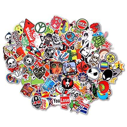 Stillcool stickers pack of 100 skateboard snowboard vintage vinyl sticker graffiti laptop luggage car bike bicycle