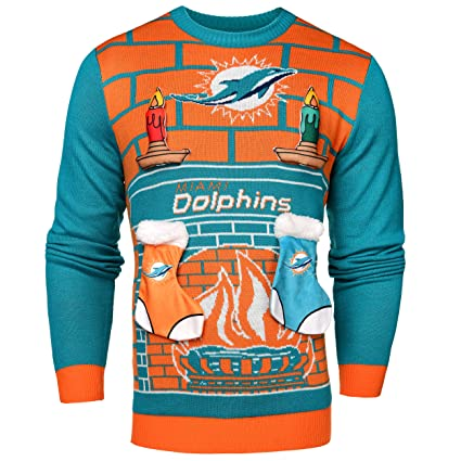 3022cdec Buy Miami Dolphins Ugly 3D Sweater - Mens Medium Online at Low ...